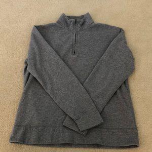 J. Crew gray half zip pullover- large